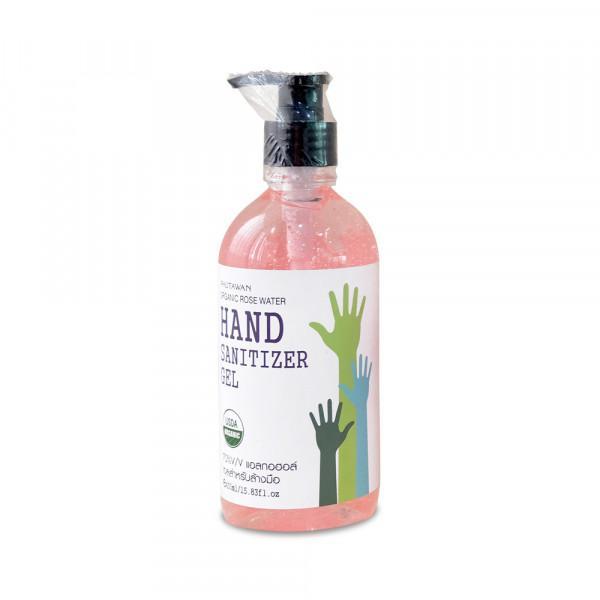 Phutawan | Organic Rose Water Hand Sanitizer Gel 450 ml.